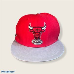 Chicago Bulls Red Grey Windy City Snapback Hat Cap